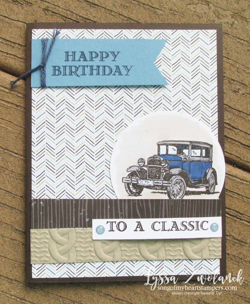 Guy Greetings Antique Car Birthday Card Song Of My Heart Stampers