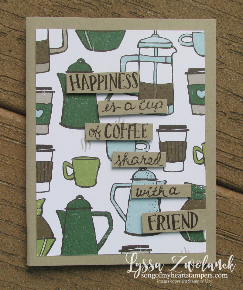 Coffee break cafe papers beans Stampin Up Lyssa latte lovers