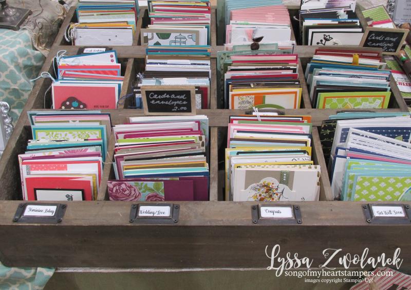 Craft fair display best sellers Stampin Up Lyssa show vendor 8