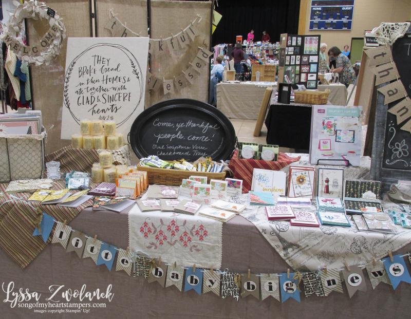 Craft fair display best sellers Stampin Up Lyssa show vendor 3