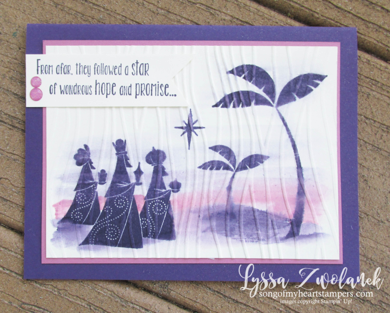 Wise Men from afar Stampin Up bethlehem Christmas star DIY cards rubber stamps
