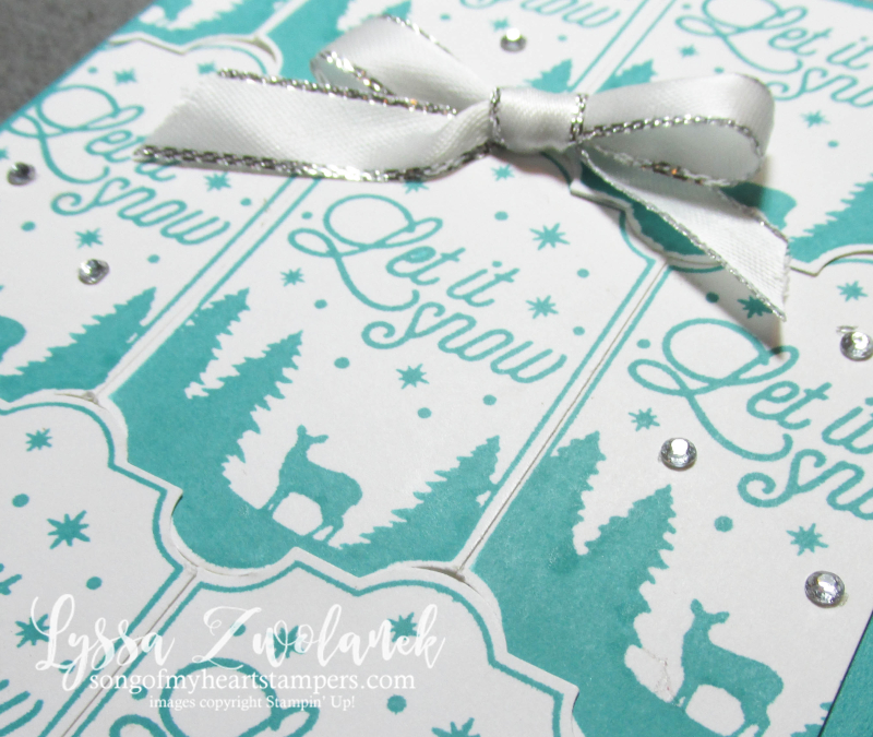 Let it snow stamp Merry Label punch background technique stampin up rubber stamps