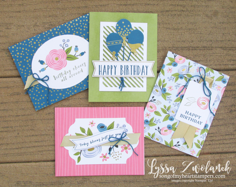 Perennial Birthday card box stationery set project kit Stampin Up cards cardmaking Lyssa