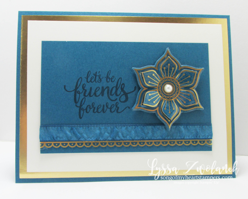 Eastern Palace Stampin Up new vinyl dapper denim big shot card framelits stickers Lyssa song my heart
