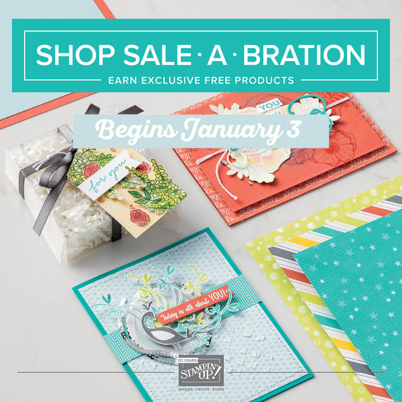 SAB begins january 2018 stampin up sale a bration saleabration