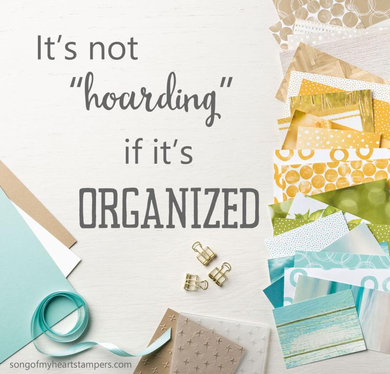 Not hoarding paper organized