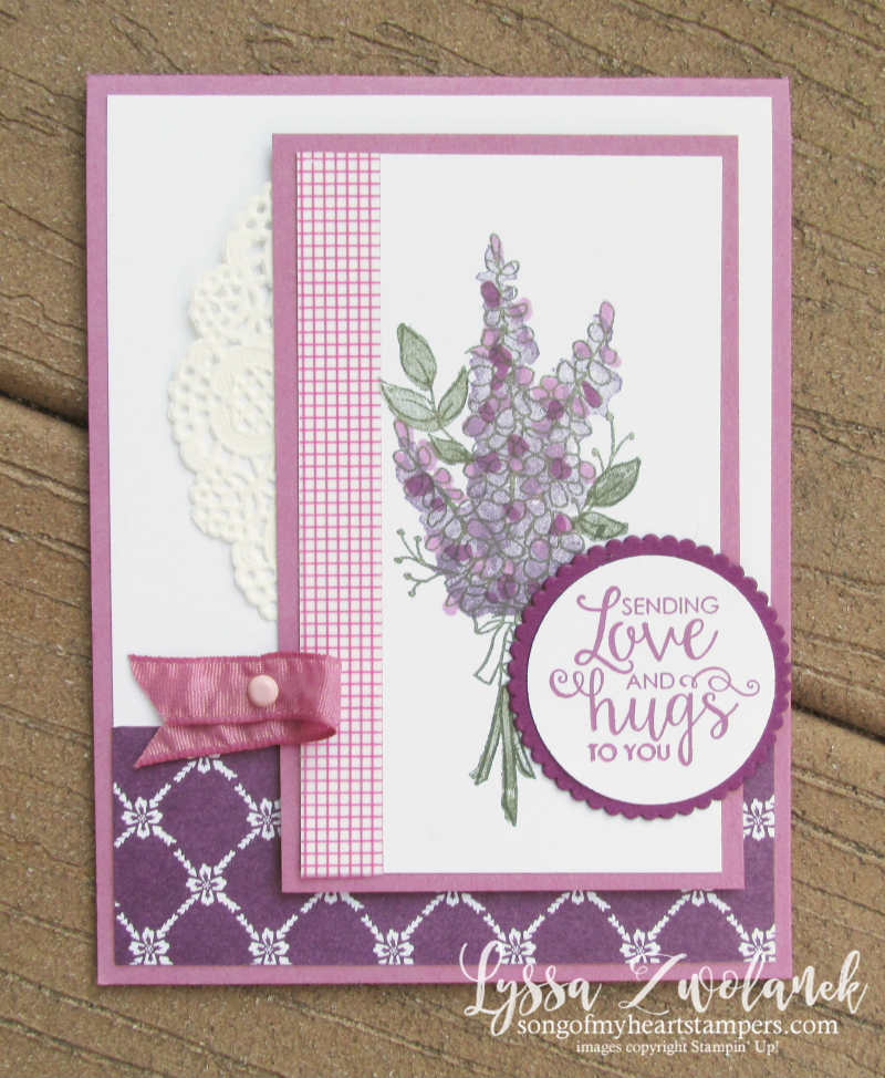 Lots lavender saleabration stampin up rubber stamps wildflower stamparatus sweet sugarplum