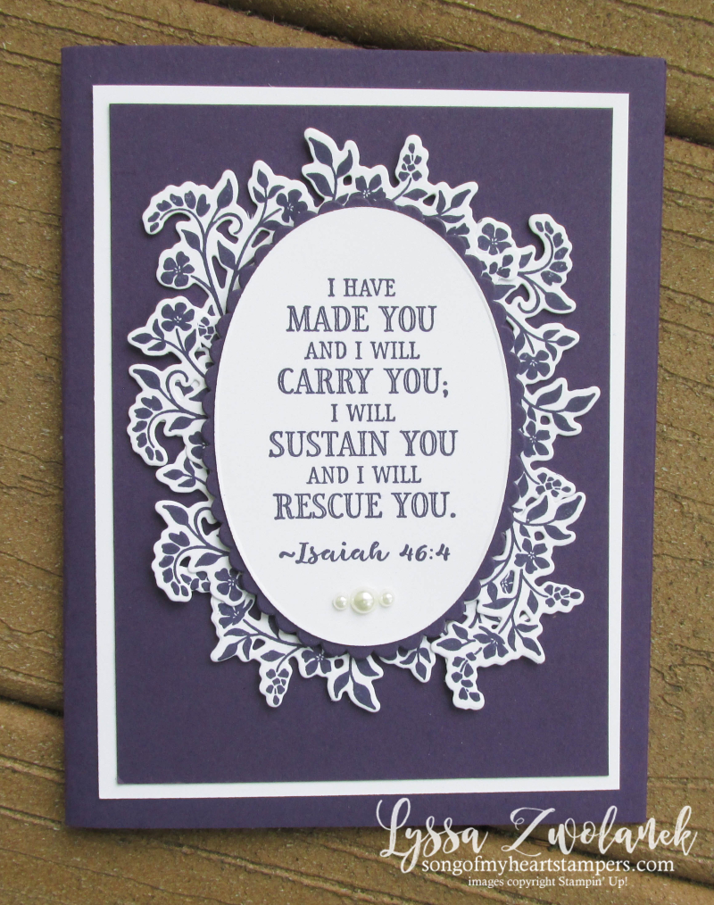 Hold Onto Hope Christian scripture bible verse cross diecut Stampin Up Lyssa rubber stamps