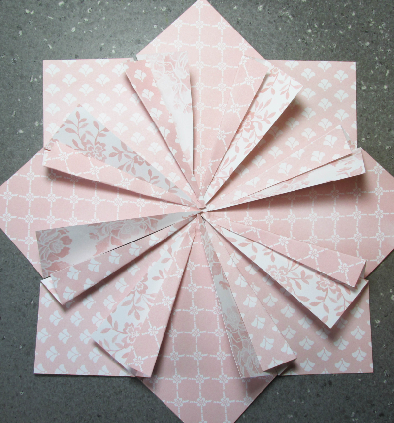 Quilted Paper wreath double tutorial 5