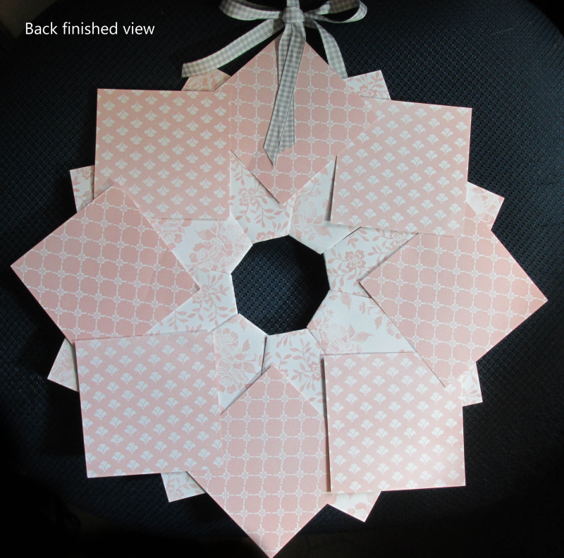 Quilted Paper wreath double tutorial 11
