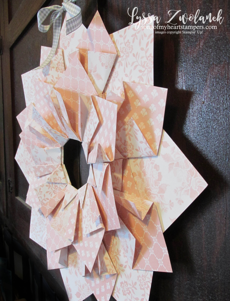 Quilted paper wreaths extra large double papercrafts craft DIY wreath idea front door