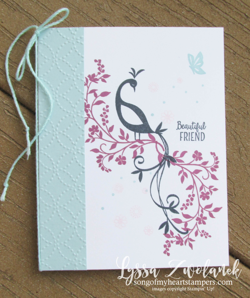 Beautiful pretty peacock stamp stampin up rubber stamps scrapbooking accessories