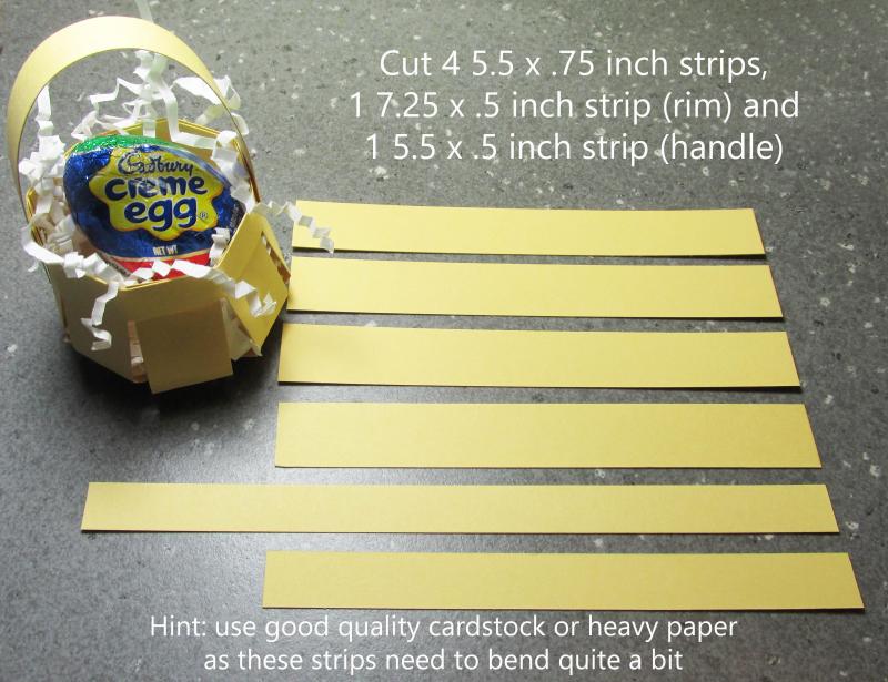 Cadbury egg mini basket creme tutorial paper box free Stampinup 1