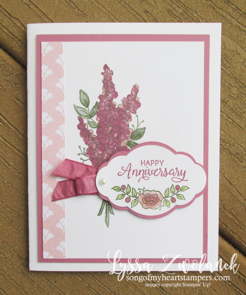 Lots of Lavender free SAB 20118 saleabration stampin up flower stamps set free tutorials