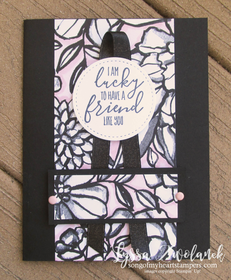 Petal passion black white DSP coloring pages cardmaking DIY adult pink Stampin Up shop Lyssa Blends markers