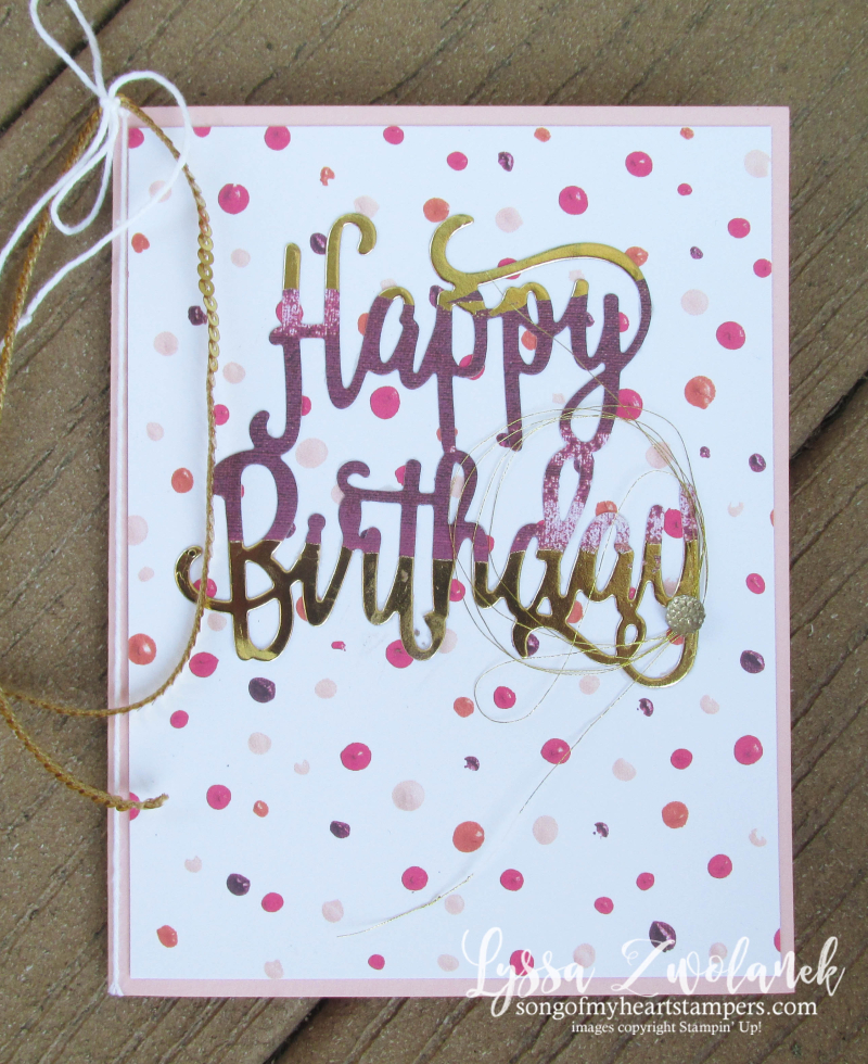 Happy birthday thinlets sizzix stampin up dies big shot invite party cards