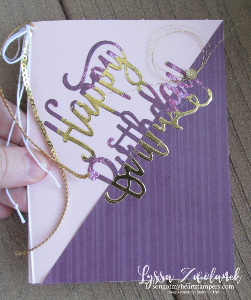 Happy birthday thinlets sizzix stampin up dies big shot wafer thin party cards