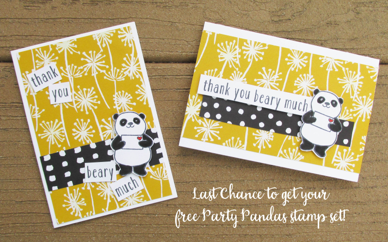 Party pandas saleabration SAB 2018 free stamp set shop Stampin Up Lyssa