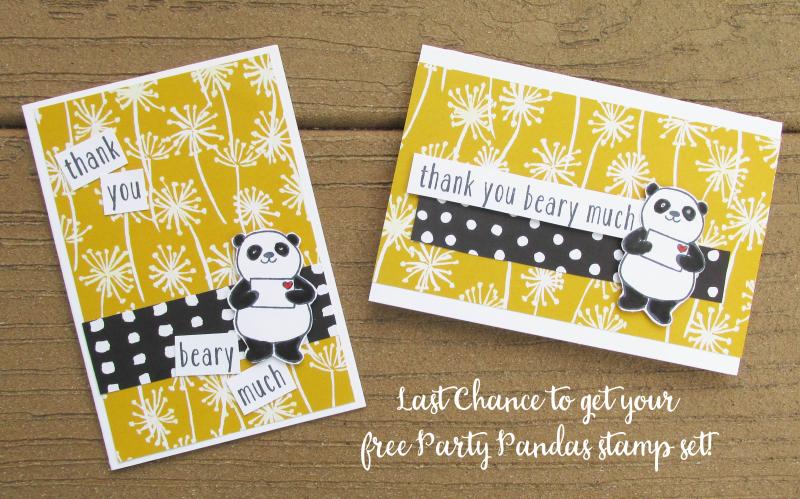 Party pandas saleabration SAB 2018 free stamp set shop Stampin Up Lyssa