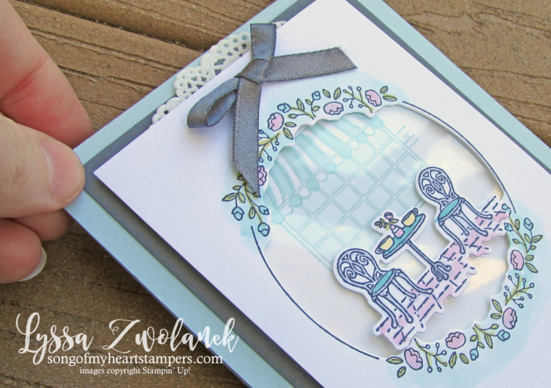 Charming cafe paris bistro set rubber stamps Stampin Up bakery teacup coffee