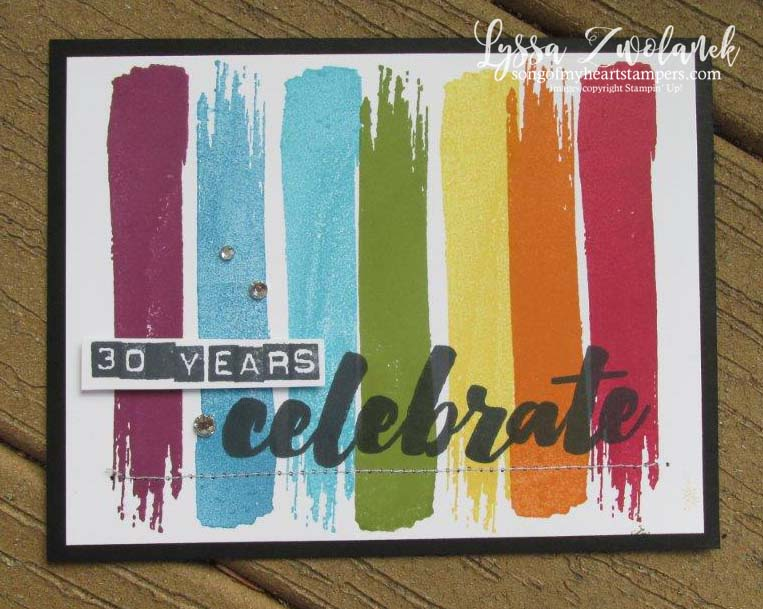 Happy celebrations stampin up rubber stamping set rainbow technique tutorial birthday