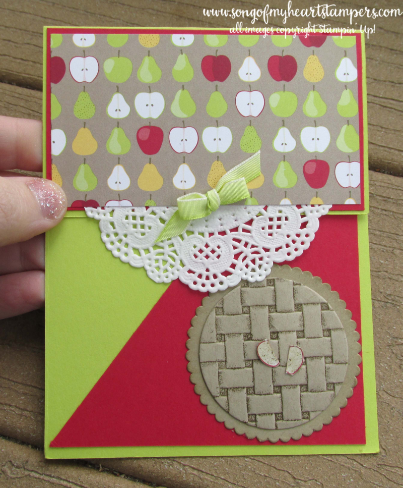 Tutti frutti punch pack apple pie basket weave folder stampin up rubber stamps