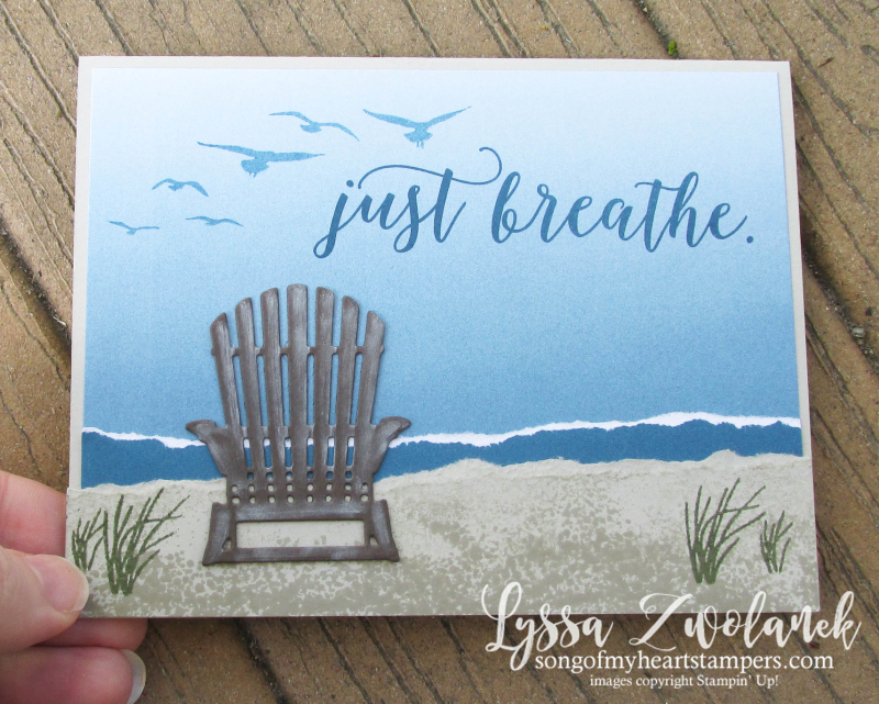 Color Theory beach seaside lakeside shore adirondack chair Ombre Painter's Swatch Colors Stampin Up Sizzix