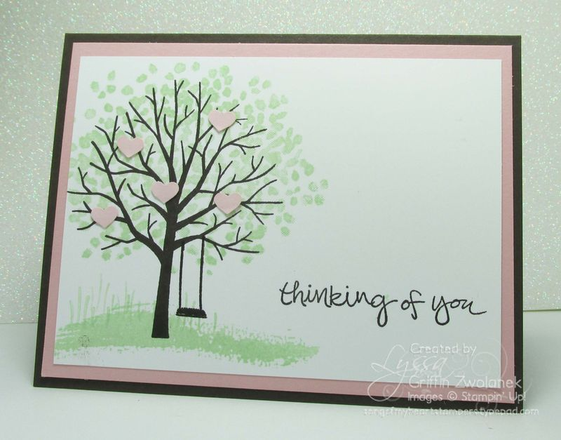 Sheltering tree Stampin Up spring card