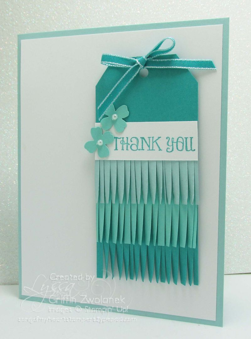 Ombre Fringe Tag Stampin Up Thank You Card