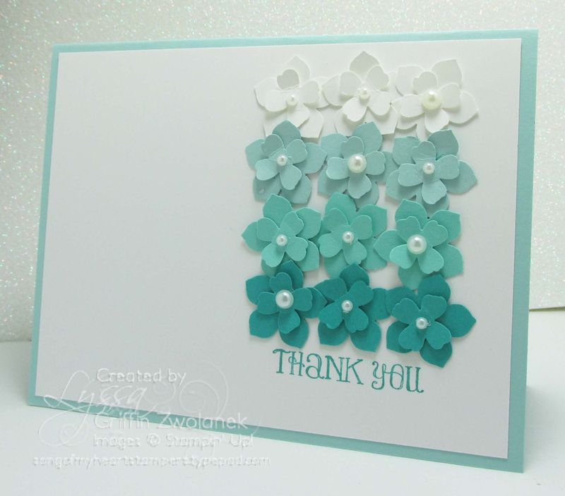 Ombre Flowers Punch Art Stampin Up Card