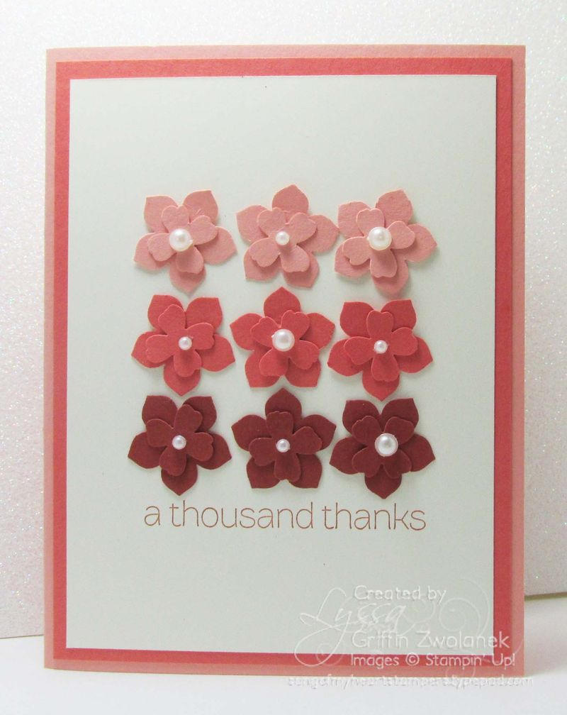 Ombre Flowers Art Punch Stampin Up Card
