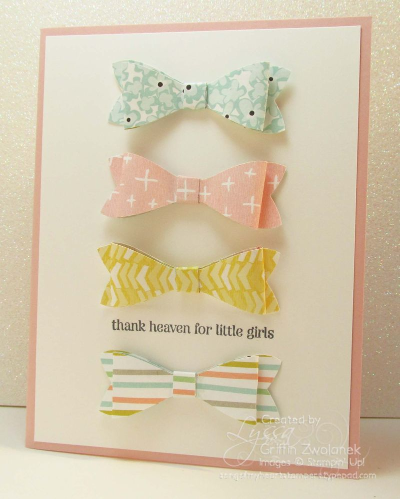 Bow Punch Baby Girl Stampin Up Congrats Card