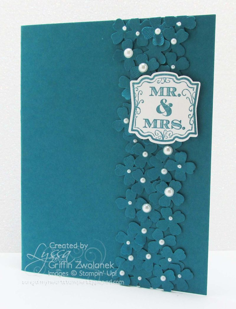 Monochromatic Wedding Card Stampin' Up flower punches