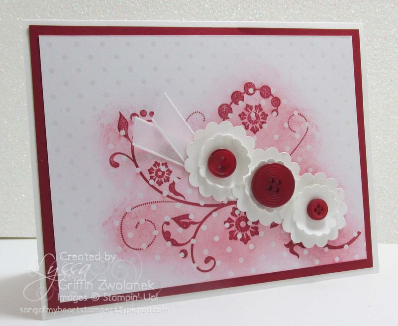 Emboss Resist Wedding Congrats Card Outside Stampin Up