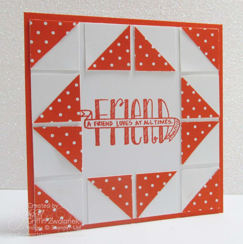 Pinwheel Quilt Card Cheat Sheets Collection technique Stampin Up