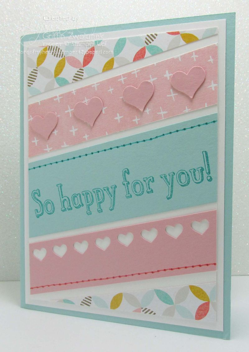 Diagonal Paper Scraps Card Stampin Up