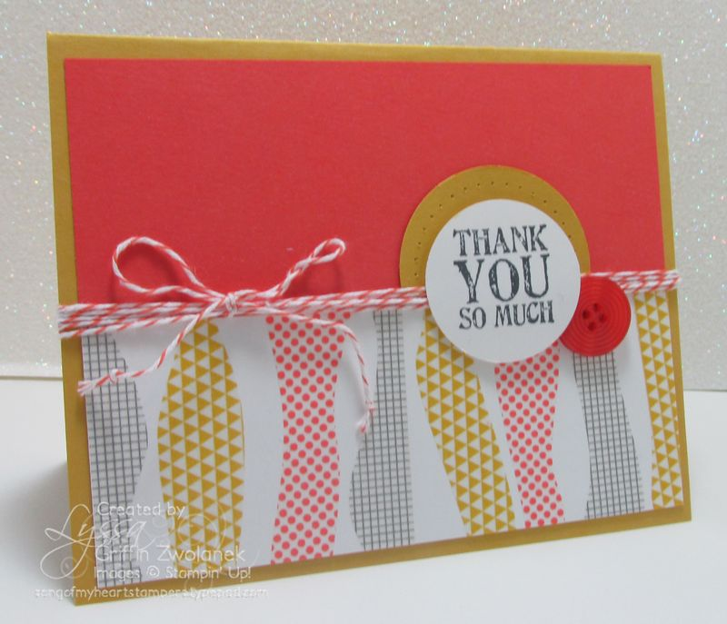 Wavy Washi Technique Stampin Up Thank You Card