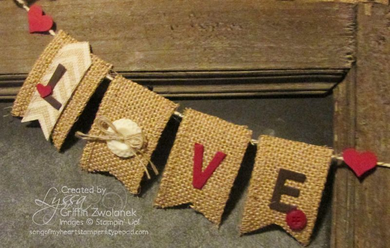 Hawaii Swap 3D Love Banner Stampin Up SOMHS