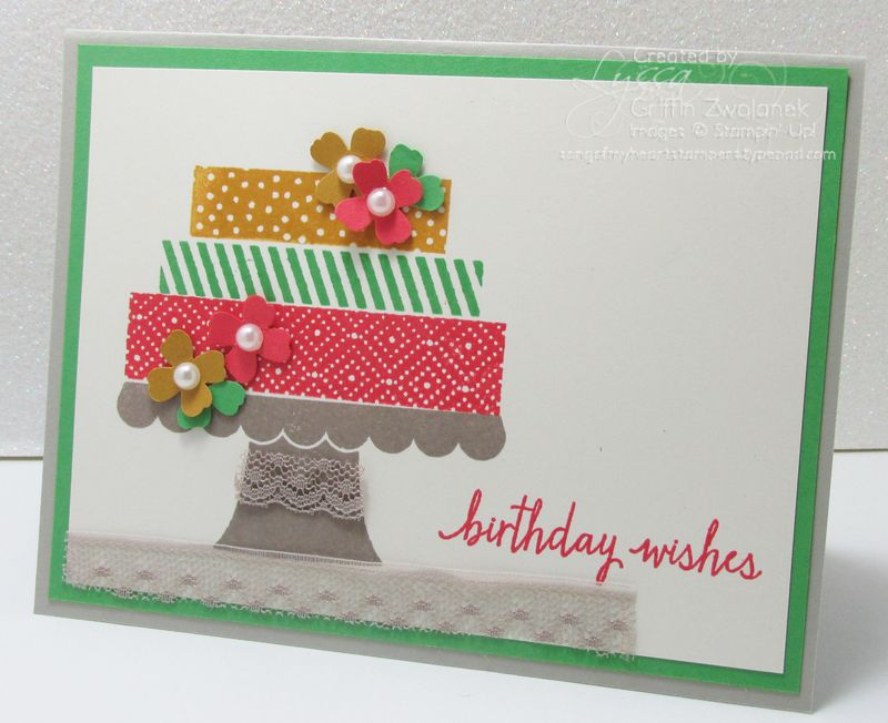 Cake with Lace Tablecloth Stampin Up In Colors