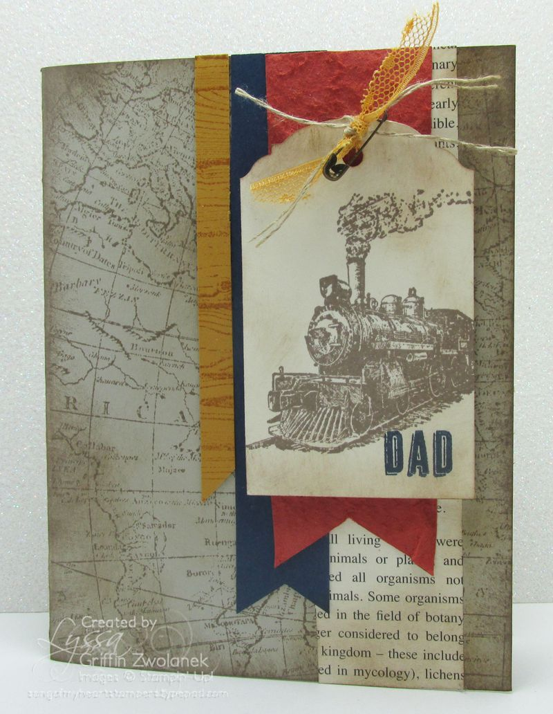 World Traveler Masculine Train Father Card Stampin Up