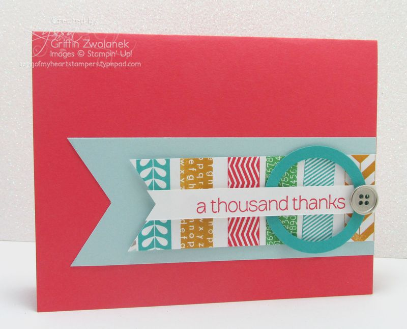 Faux Washi Tape Stampin Up Banner Builder Punch In Colors Card