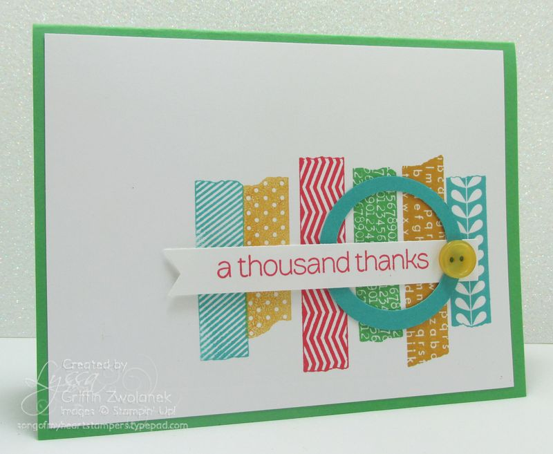 Faux Washi Tape Stampin Up Cucumber Crush  In Colors Card