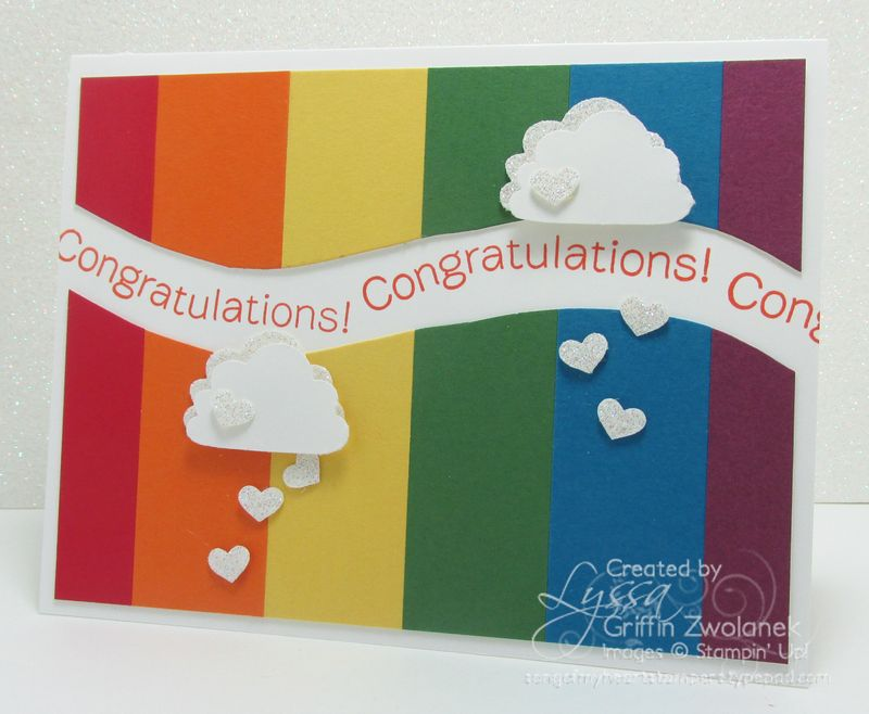 Hawaii Swap Card Rainbow Stampin Up SOMHS