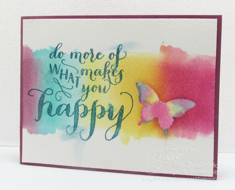 Watercolor Gradient Background Technique Stampin Up Butterfly Punch Card