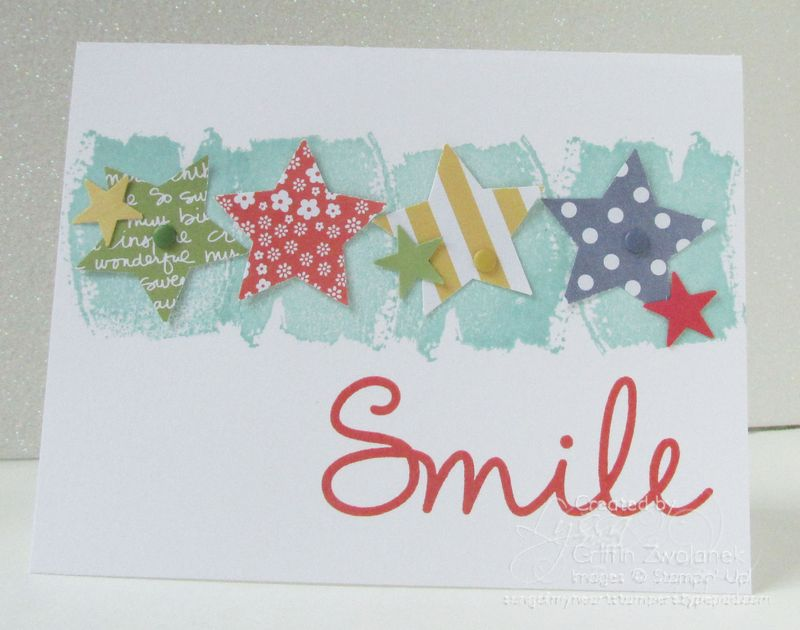 So You Smile Stampin Up Card Stars