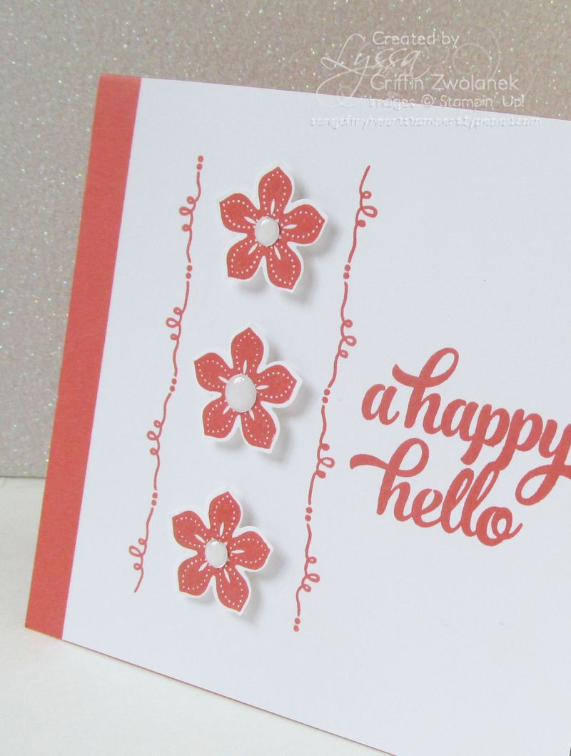 Happy Hello Tin of Cards Stamp Set Stampin Up Card