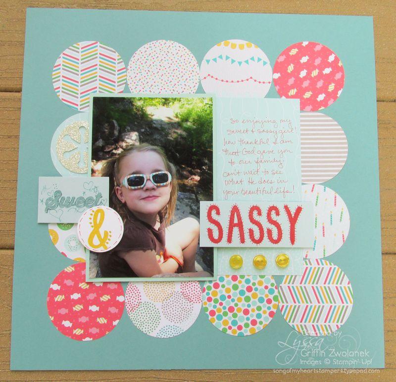 Sassy Circles Page detail