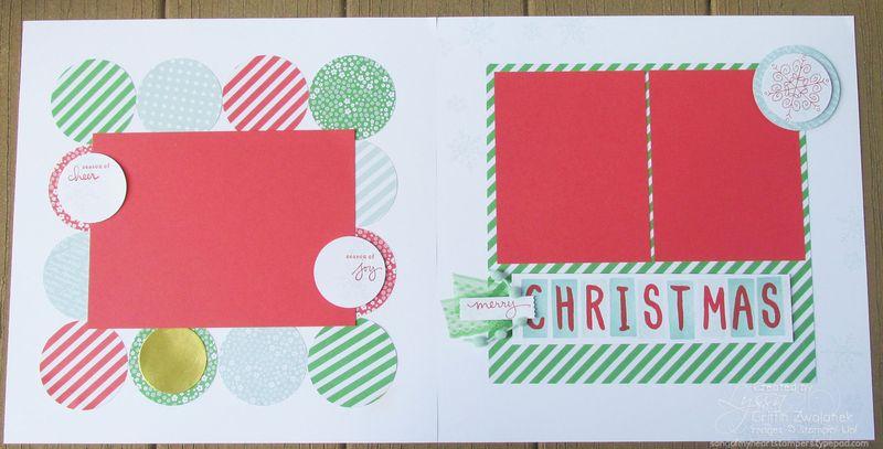 Christmas Circles Layout Scrapbooking Sketch