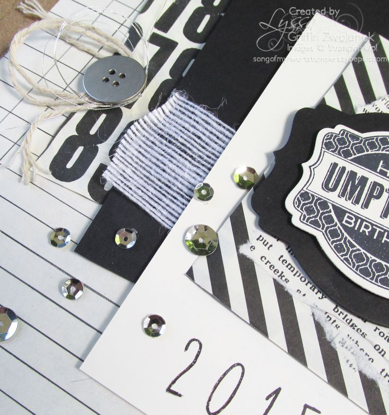 Black and White Vintage Birthday Detail