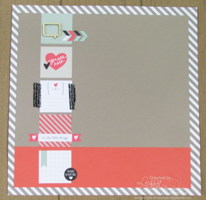 Striped Taupe and Coral Page SOMHS